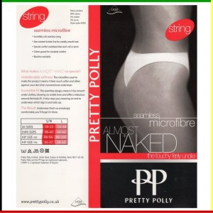 String: Pretty Polly - Almost Naked - zwart