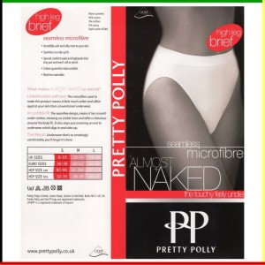 Classic - High leg brief: Pretty Polly - Almost Naked - wit