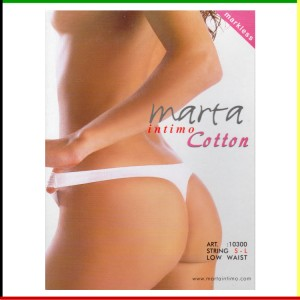String low waist: Marta Intimo Cotton - Markless - groen