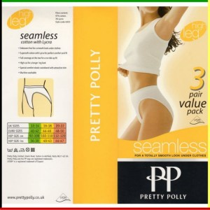 Classic - High leg: Pretty Polly - Seamless - wit - 3 stuks