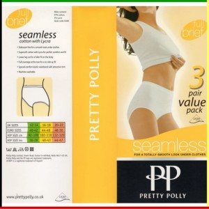 Classic - Full brief: Pretty Polly - Seamless - wit - 3 stuks